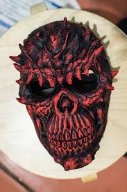 Payday Halloween Costume Inspired Red Skull Death Payday Payday 2 Payday 2 Mask