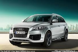 Audi Q7 Night Black - audi uk a new show of strength for audi q7 s line edition models