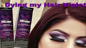 diy hair coloring at home using the new loreal hicolor violets