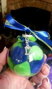 seahawks ornament quilted fabric ornaments seahawks