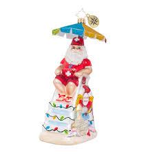 christopher radko ornaments st nick on duty surf sun ornament