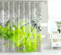 Pink Green Shower Curtain Neon Yellow Shower Curtain Shower Curtains Design