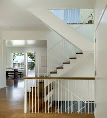 Contemporary Open Floor Plans Banister Staircase Transitional With Open Floor Plan Metal Railing