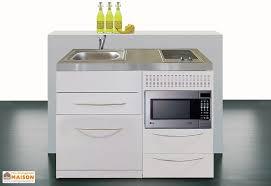 plan de travail cuisine 120 cm mini cuisine avec l v micro ondes et plaques vitrocéramiques 120cm