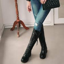 s boots lace fashion s boots lace up knee high boots martin