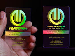 Graphic Artist Business Card 23 Cool Examples Of Transparent Business Cards