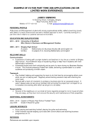 resume for part time job high student student job resume template sle of part time templates