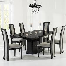 Kamila Black Marble Dining Table With 6 Chairs Robson Furniture