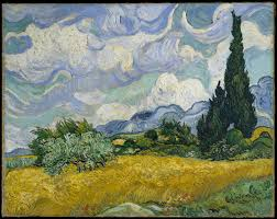 vincent van gogh wheat field with cypresses the met