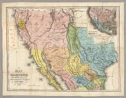Map New Mexico by Map Of California New Mexico Texas U0026c David Rumsey Historical