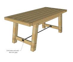 Free Wooden Table Plans by Ana White Benchright Farmhouse Table Diy Projects