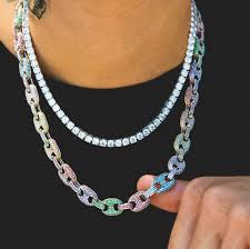 colored chain link necklace images Colored gucci link necklace 5mm tennis chain bundle eskeem jpg