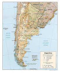 physical map of argentina argentina maps perry castañeda map collection ut library