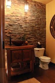Rustic Reclaimed Barnwood Bathroom Vanity With Copper Vessel Sink - Floor to ceiling bathroom vanity