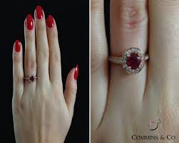 ruby engagement ring 1 15 carat ruby and yellow gold engagement ring gr015