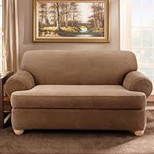 Surefit Sofa Covers by Amazon Com Sure Fit Stretch Stripe 2 Piece Sofa Slipcover