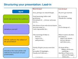 M Me In English - english for presentations