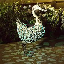 smart garden solar metal duck light on sale fast delivery