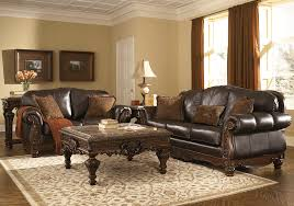Genuine Leather Living Room Sets Shore Brown Genuine Leather Sofa Set Evansville