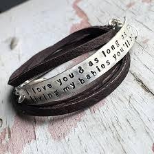 custom engraved bracelet custom leather wrap bracelet with personalized sterling silver bar
