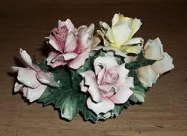 capodimonte basket of roses capo di monte antique price guide