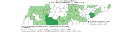 Tennessee Map Of Counties by State Data On Child Health Coverage In Small Towns And Rural Areas