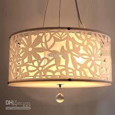 Shade Pendant Light Lucite Ls Acrylic Carve Flower Lshade Pendant Light Modern