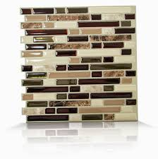 Self Stick Kitchen Backsplash Tiles Decorations Peel And Stick Backsplash Home Depot Stick On Tile