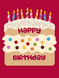 the sponge cake card happy birthday cake card personalised