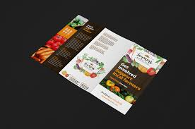 farmers market trifold brochure template for photoshop