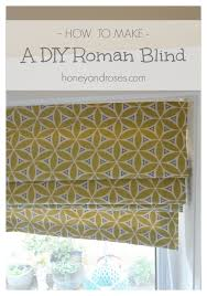 Instructions For Making A Roman Blind How To Make A Diy Roman Blind Honey U0026 Roses