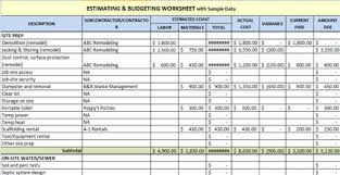 Free Construction Estimating Spreadsheet Template by Free Construction Estimating Spreadsheet Template