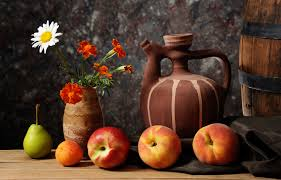 fruit and flowers fruit and a vase of flowers wallpapers and images wallpapers