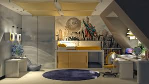 Decorate Boys Room by Superman Themed Boys Room Interior Design Ideas