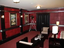 Home Theatre Wall Sconces Lighting Art Deco Home Theater With Crown Molding U0026 Wall Sconce In New