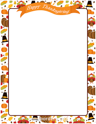 printable happy thanksgiving border use the border in microsoft