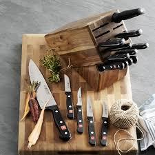 kitchen knives block set wüsthof gourmet 18 knife block set williams sonoma