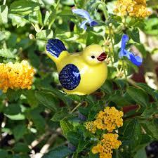 happy bluebird bird garden ornament ceramic hedgehog lawn
