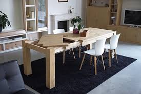 artisan made oak wood extendable table tables furniture