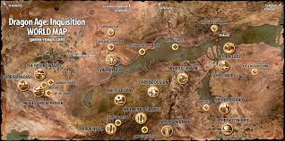 Fallout 2 World Map by Dragon Age Inquisition World Map Game Maps Com