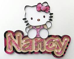 Hello Kitty Wall Mirror Quilling Hello Kitty Custom Nameplate Wall Hanging Nyla