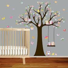 pochoir chambre bébé stickers arbre chambre bébé arbre mural deco murale originale