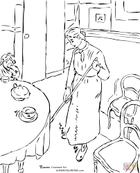 self portrait by camille pissarro coloring page free printable