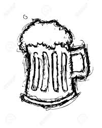 beer cartoon black and white grunge beer doodle royalty free cliparts vectors and stock