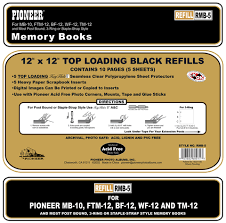 pioneer scrapbook refills pioneer 12x12 black memory book refill pages the company