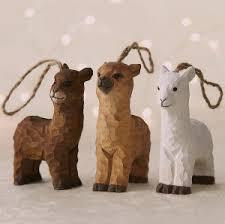 alpaca wooden ornament