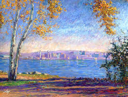 erie painting view from presque isle by michael camp