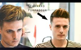 mens haircut u0026 hairstyle forward pompadour slick quiff
