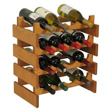 kingston stackable 20 bottle wine rack cube with removable tray