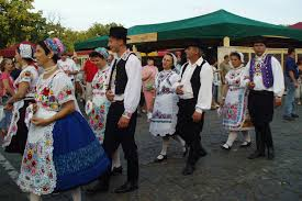 hungarian folk costumes for males and females